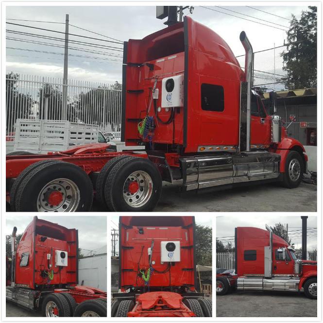Aire acondicionado de camión con litera en International Truck