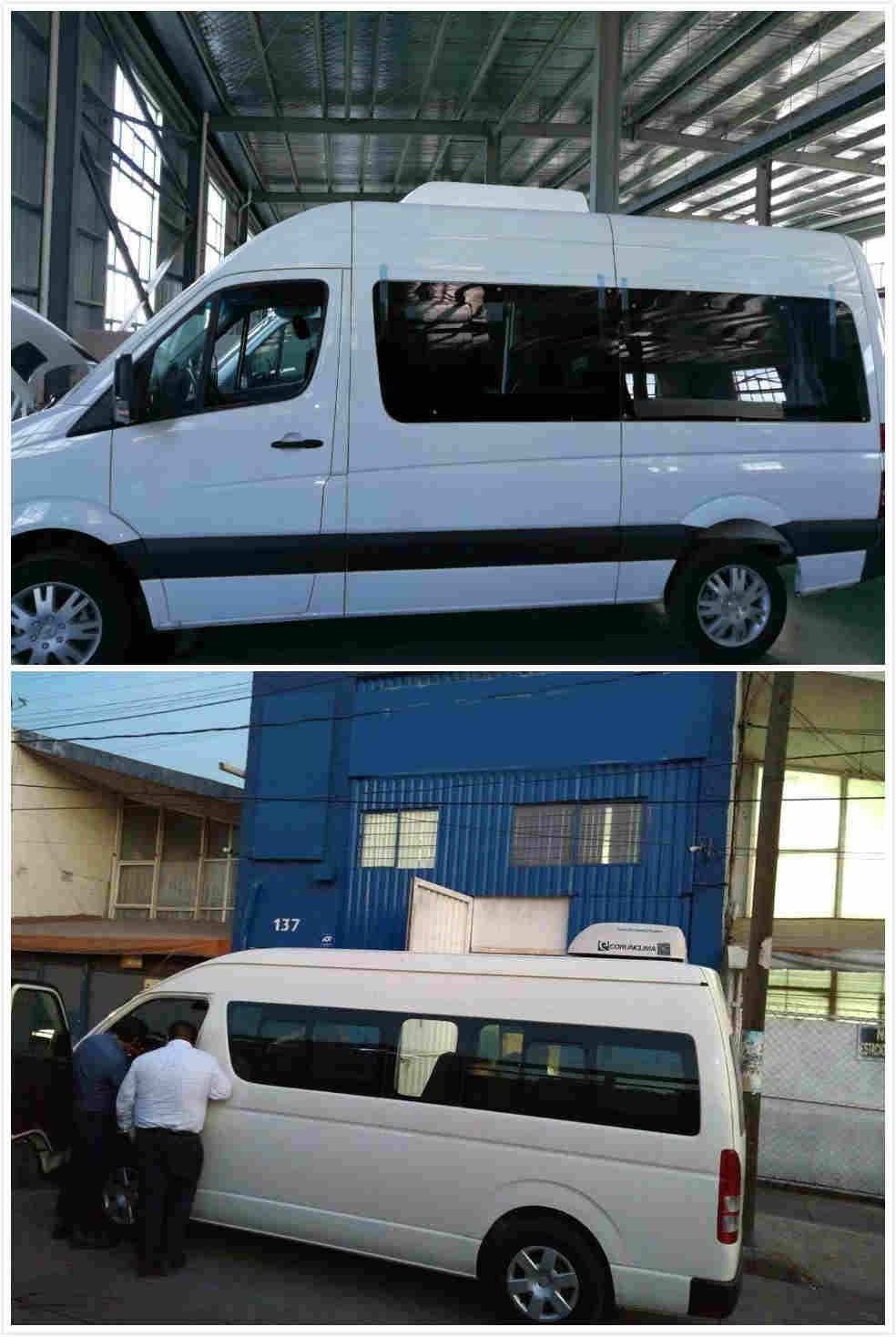 El aire acondicionado eléctrico del autobús está listo para ser enviado al cliente